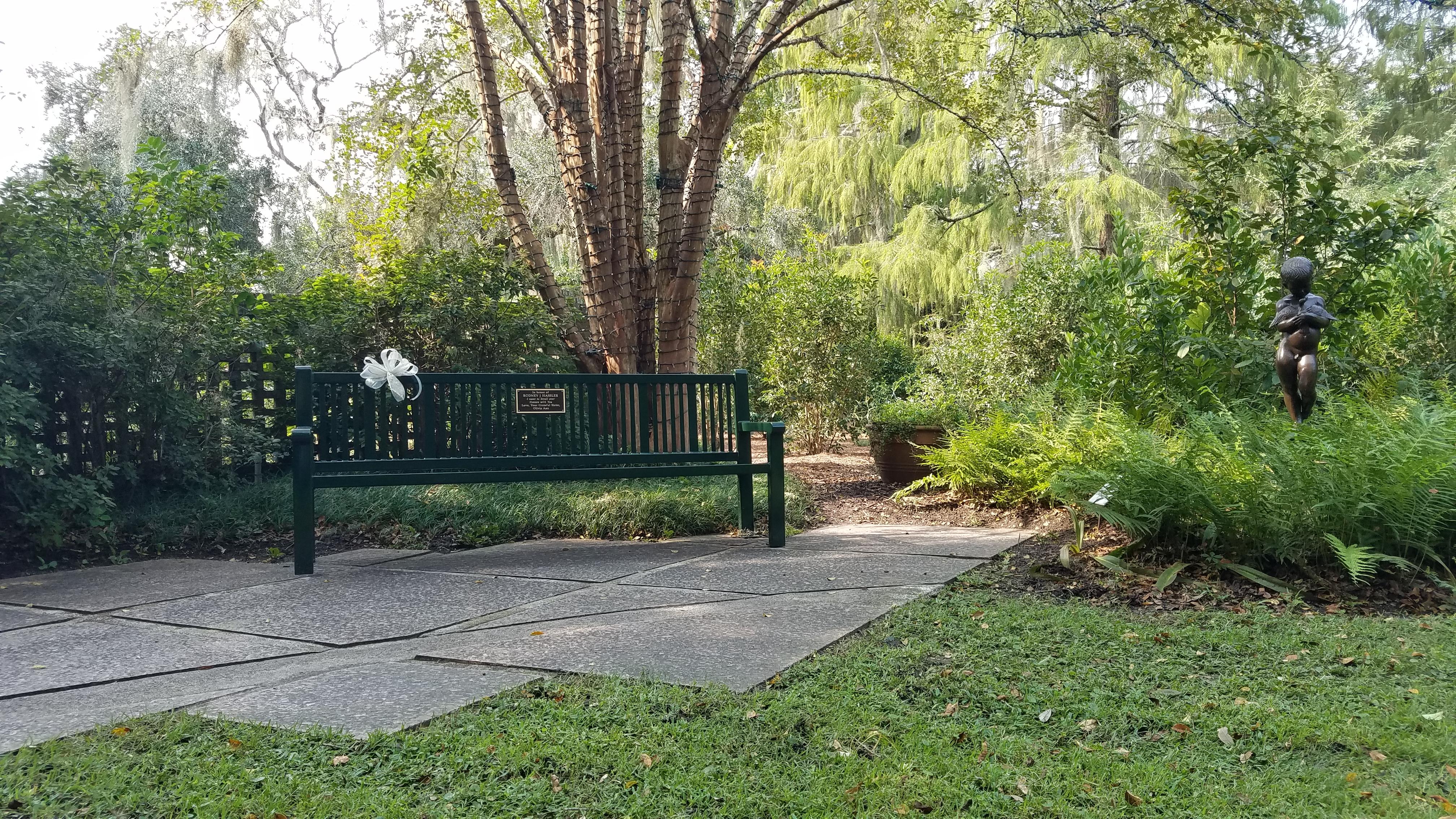 Dedication Bench at Brookgreen Gardens