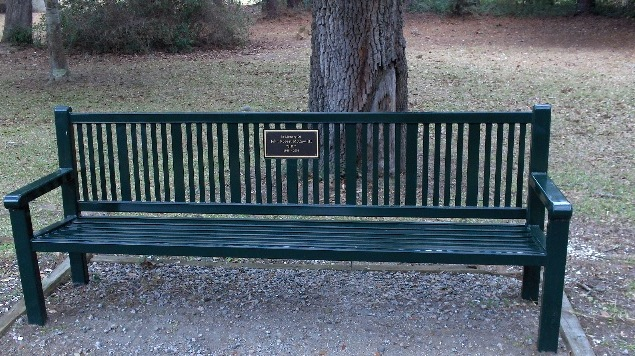 Memorial Bench at Brookgreen Gardens