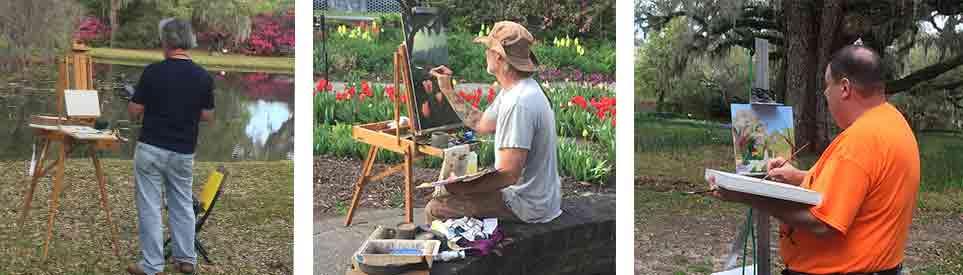 Plein Air Painters at Brookgreen Gardens